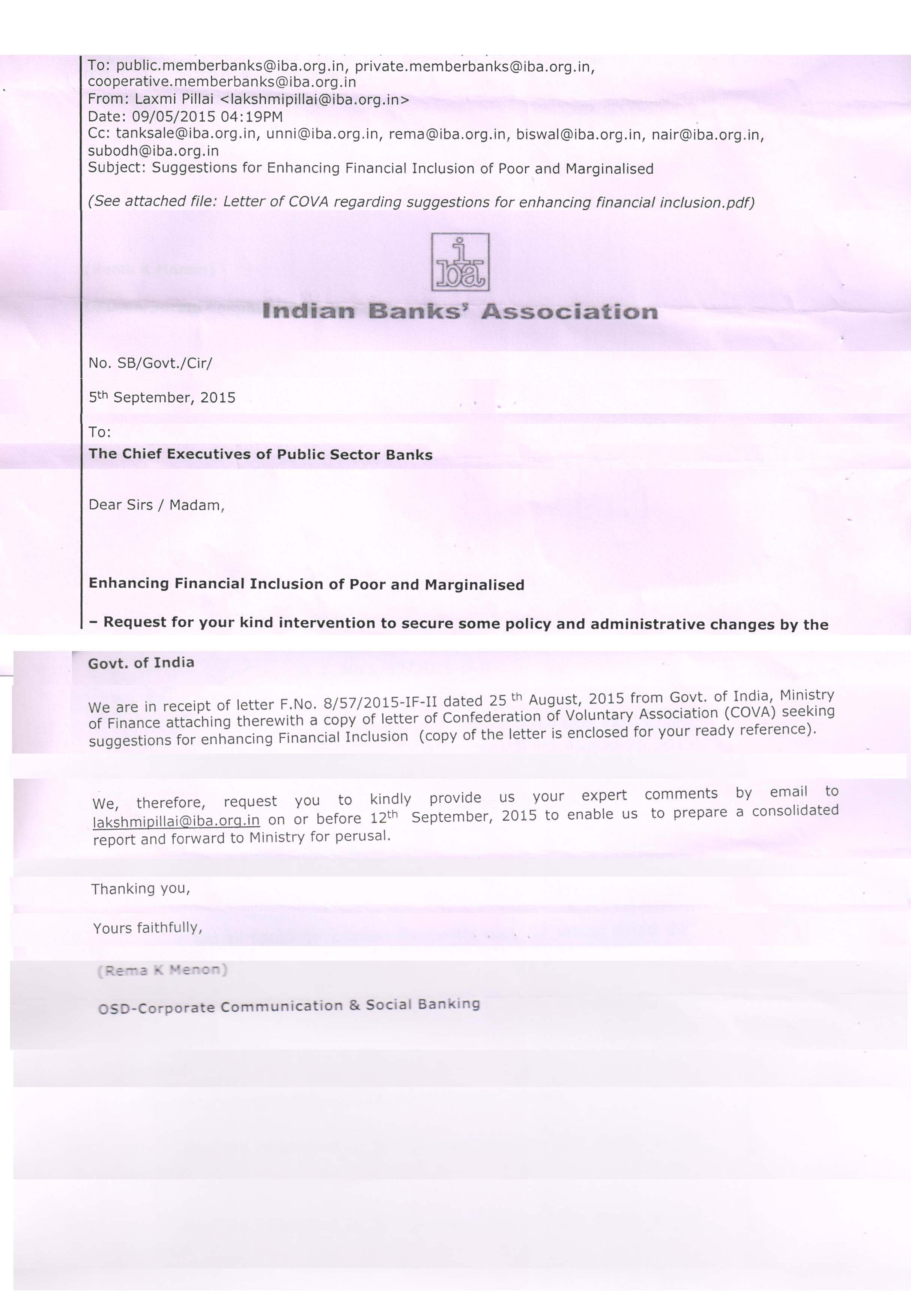 No Fi Iba Cover Note To Banks Covanetwork  Cover Note